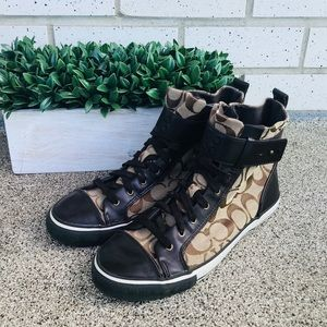 Coach woman's High tops size 9B
